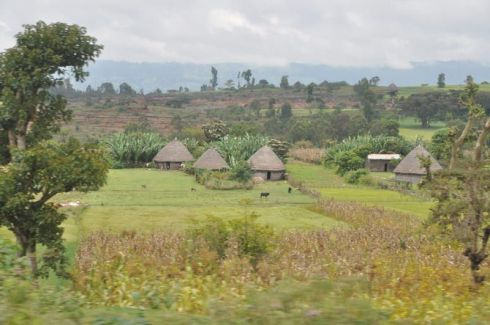 On the road in southern Ethiopia - Addis Ababa to Arba Mich